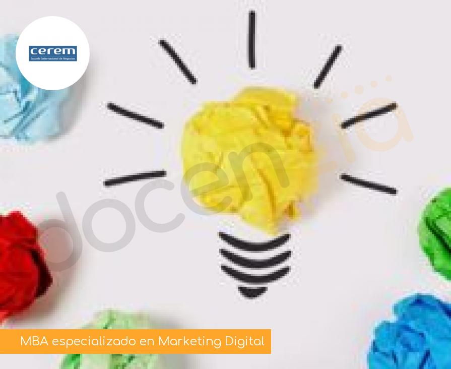 MBA especializado en Marketing Digital