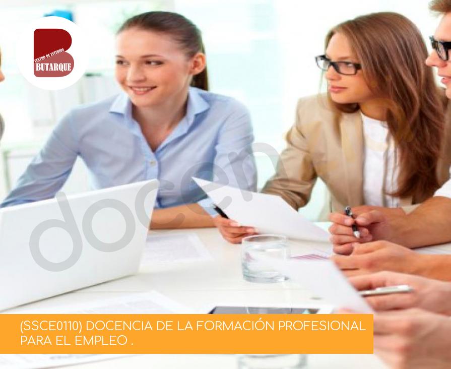 (SSCE0110) DOCENCIA DE LA FORMACIÓN PROFESIONAL PARA EL EMPLEO .