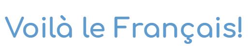 Logotipo Voilà le Français!