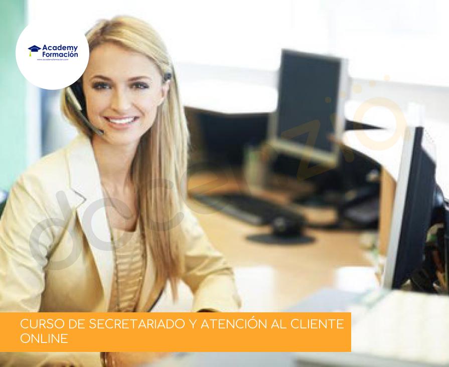 CURSO DE SECRETARIADO Y ATENCIÓN AL CLIENTE ONLINE